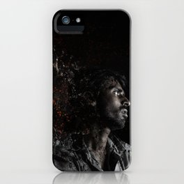 Man Portrait Coming Together iPhone Case