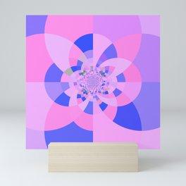 Lavender Purple Blue Kaleidoscope Mini Art Print