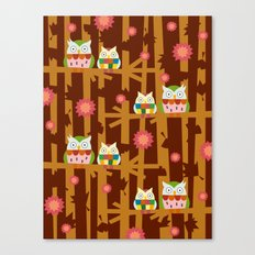 Owl Forest Canvas Print