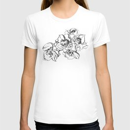 Flowers Line Drawing T-shirt