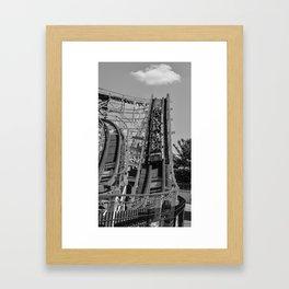 RollerCoaster Thunderbolt Framed Art Print