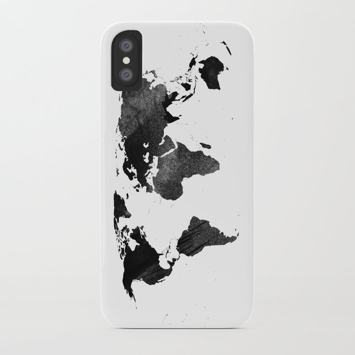 Black watercolor world map iphone case by ummuhanuslu society6 black watercolor world map iphone case gumiabroncs Gallery