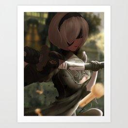 2b - Nier:Automata Art Print