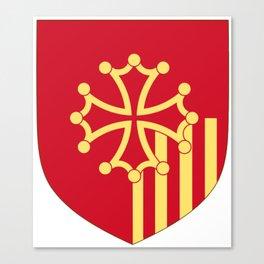 Languedoc-Roussillon symbol shield Canvas Print