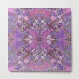 Pink and Purple Stone Mandala 835 Metal Print