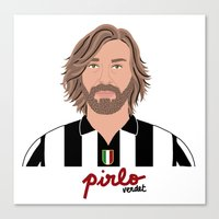 juventus Canvas Prints featuring ANDREA PIRLO - JUVENTUS by THE CHAMPION'S LEAGUE'S CHAMPIONS