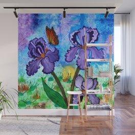 Iris at Sunrise Wall Mural