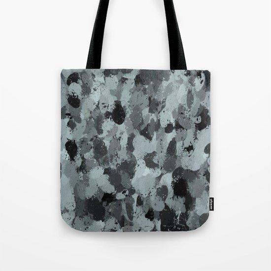 Black and Smokey Blue Pastels 3216 Tote Bag