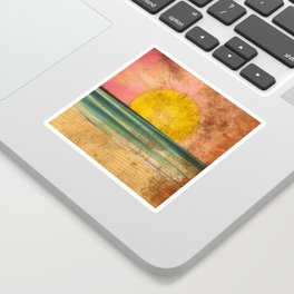 Ocean Sunset Vintage 2.0 Sticker