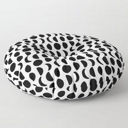 Yoga moon phases pattern Floor Pillow