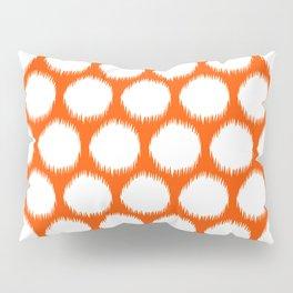 Vermillion Asian Moods Ikat Dots Pillow Sham