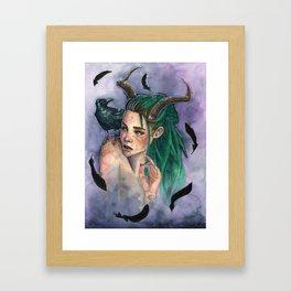 Queen of Crows Framed Art Print