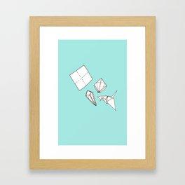 Oragmi Paper Crane Framed Art Print