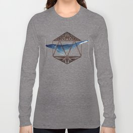 whale in the icosahedron Long Sleeve T-shirt