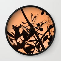positive Wall Clocks featuring Positive by AlexinaRose