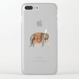 Riding Elephant Clear iPhone Case
