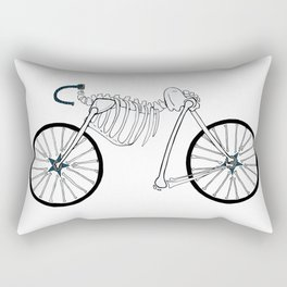 Skeleton Bike Rectangular Pillow