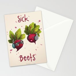 Sick Beets Stationery Cards