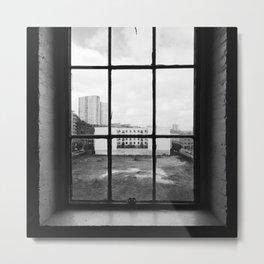 Hoboken Window Metal Print