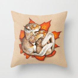 Autumn Squirrels Throw Pillow