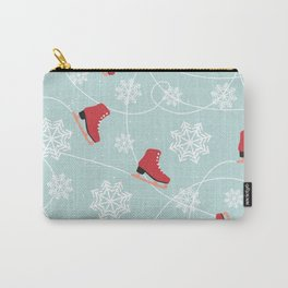 Winter Ice Skating Carry-All Pouch
