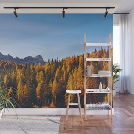 The Pine Tree Forest (Color) Wall Mural
