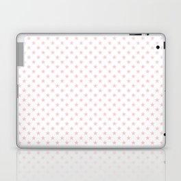 Millennial Pink Pastel Stars on White Laptop & iPad Skin