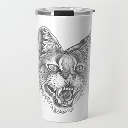 Angry caracal Travel Mug
