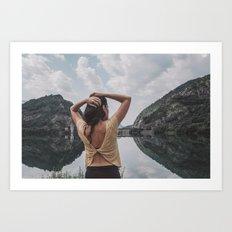 existe un mundo de agua entre tú y yo Art Print