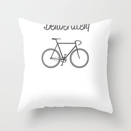Live Life Deliberately Throw Pillow