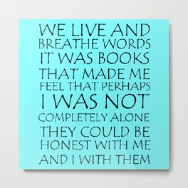 We Live And Breathe Words Metal Print