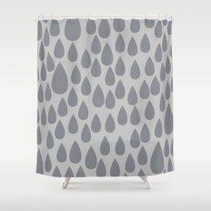Grey drops Shower Curtain