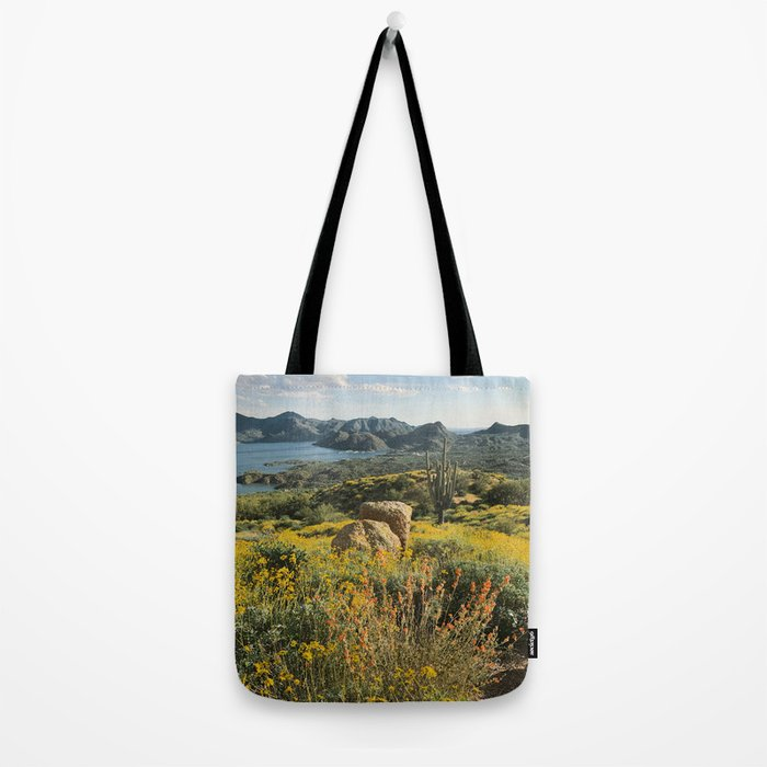 Arizona Spring Mountain Bloom Tote Bag