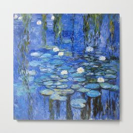 waterlilies a la Monet Metal Print