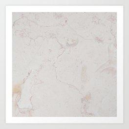 Vintage ivory brown elegant marble pattern Art Print