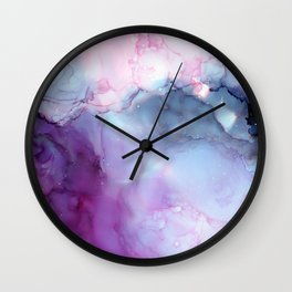 Dreamy storm clouds Wall Clock