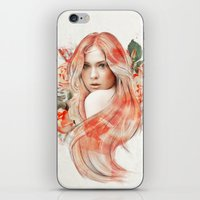 karen hallion iPhone & iPod Skins featuring Karen Gillan by jassinta