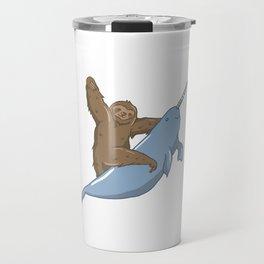 Narwhal Unicorn Beluga Sea Life Sloth Tusk Gift Travel Mug