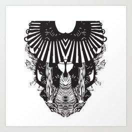Horned Snake Art Print