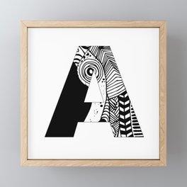 The letter A Framed Mini Art Print