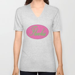Flawless Pink & Green Unisex V-Neck