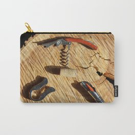 corkscrew with wine corks Carry-All Pouch