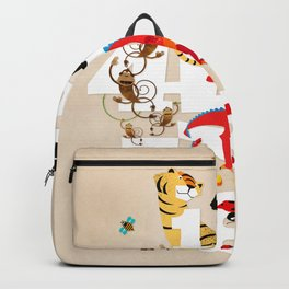One Two Three Animals in the Kids Room – Illustration for boys and girls Backpack