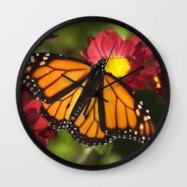 Monarch Butterfly Wall Clock