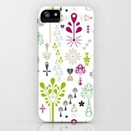 Retro Folk iPhone Case