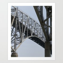 Bluewater Bridge 2 Art Print