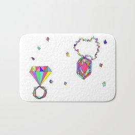 Shine Colorfully diamonds jewelry illustration fashion gem colorful accessory princess girly Bath Mat