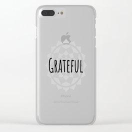 Grateful No.1 Clear iPhone Case