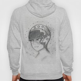 Starry Flapper in Black and White Hoody