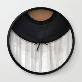 Vinyl record design Wall Clock